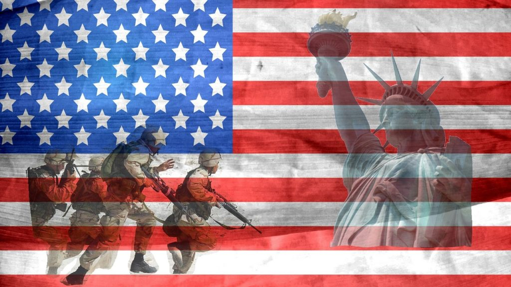 Flag - Military - Statue of Liberty