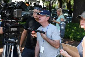 Director Norm Novitsky on set of In Search of Liberty