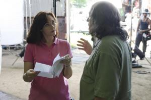 Karen Boles & Jimmy Hager on set of In Search of Liberty movie